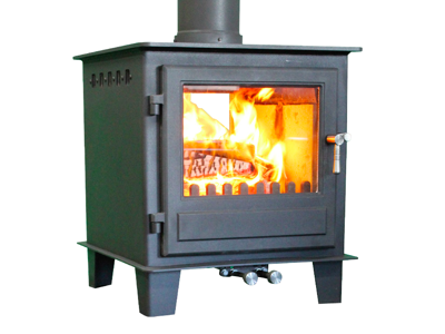Clock Blithfield DS (Multi-fuel 10kw) Double-sided Woodburning Stove